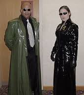 Neo and his mentor from the Matrix